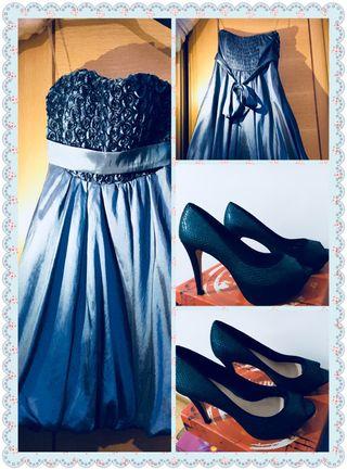 Vestido fiesta y zapatos
