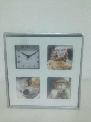Marco fotos y reloj