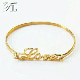 Pulsera Love dorada