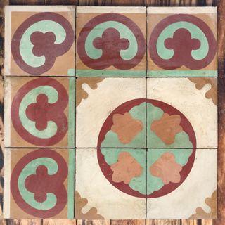 Mosaico hidraulico antiguo
