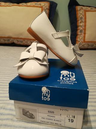 vestir blanco talla 19 charol zapatos bebe ZFxdZH