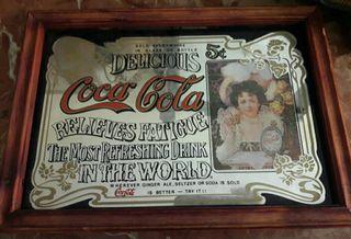 Cuadro espejo vintage de Cocacola