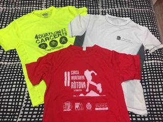 5 camisetas técnicas deporte L