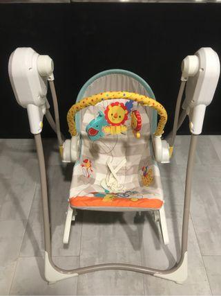 Columpio musical con mecedora para bebe