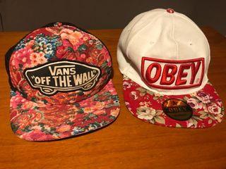 Gorra vans y gorra obey