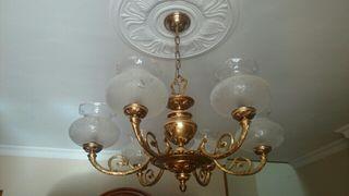 Lampara vintage bronce