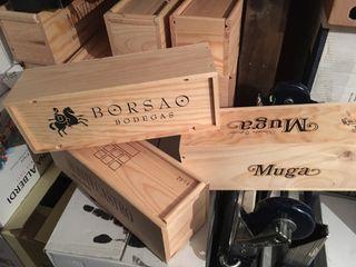 Cajas vino de madera
