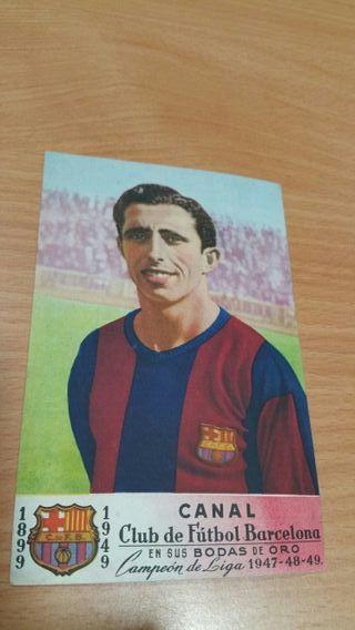 Targetas postal de futbolistas del Barcelona