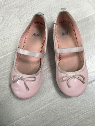 Bailarinas charol rosa palo