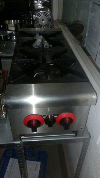 cocina industrial 2 fuegos nueva a gas