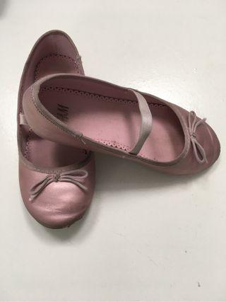 Bailarinas niña rosa metalizad