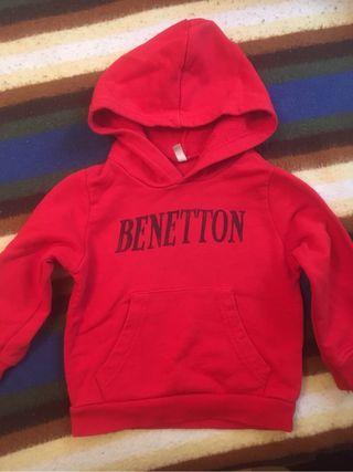 Sudadera niño Benetton talla 2