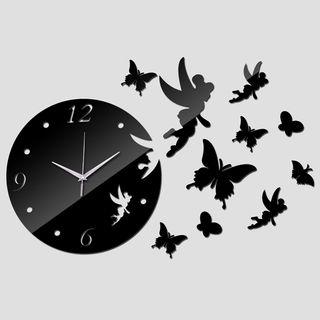 Reloj GIGANTE Hada Color NEGRO A ESTRENAR