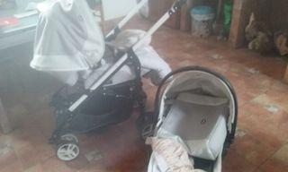 carro de bebe 3 piezas
