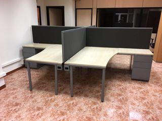 Mampara divisoria para mesa de oficina