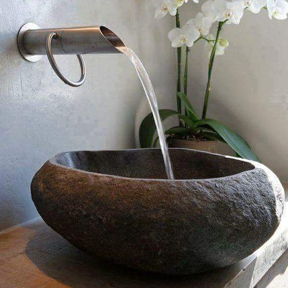 Lavabos de piedra natural para un ba o original de segunda for Lavabos segunda mano