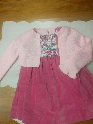 vestido bebé y chaqueta a conjunto