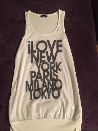 Camiseta larga chica