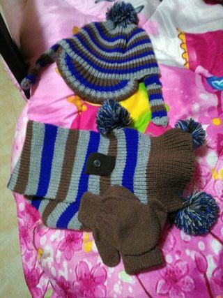 bufanda gorro guantes