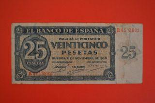 billete 25 pesetas 1936