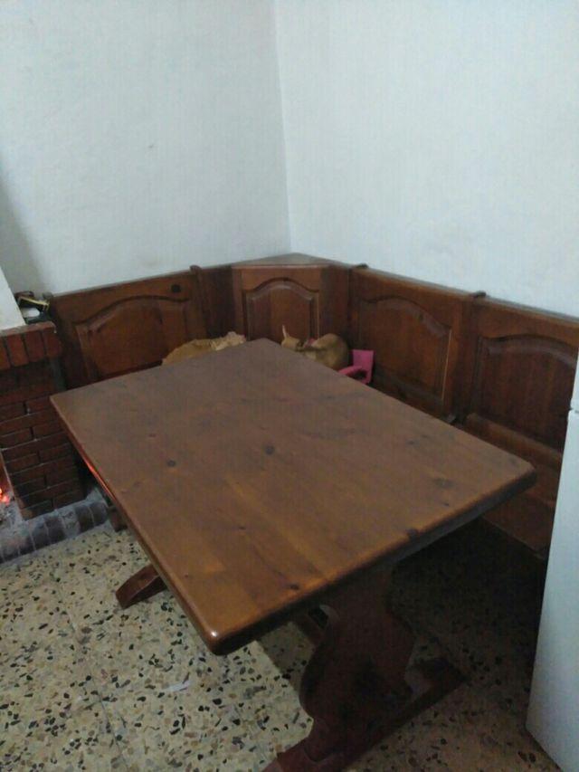 Mesa cocina esquinera