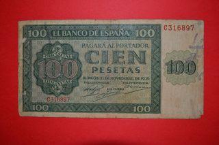 Billete 100 pesetas 1936. serie C