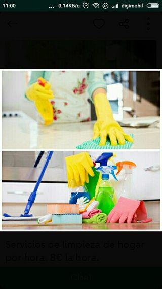 Limpieza de hogar. Limpieza por horas.