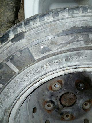 ruedas con llantas 195/R14