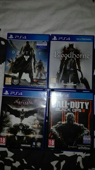 Lote de juegos PS4