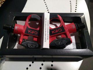pedales Look keo classic Rojo