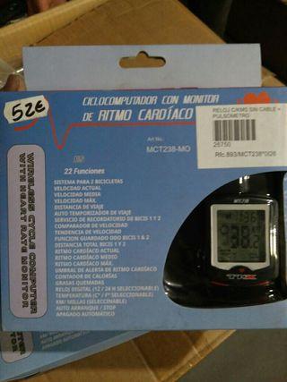 ciclocomputador TKX ckms con pulsómetro