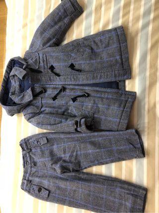 Conjunto de ropa marca dulces (abrigo y pantalón)