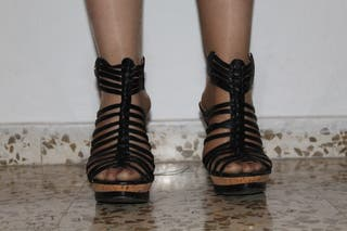 Mano Zapatos Thrdscq Negros Tacón Estepona Segunda En Wallapop De 9EY2WDIH