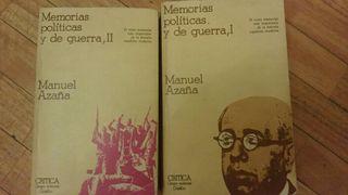 Memorias políticas y de guerra I y II