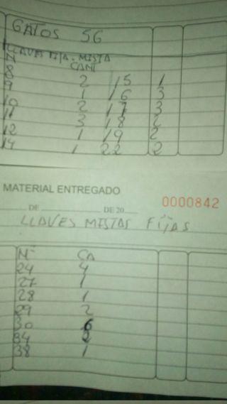 LOTE 40 LLAVES FIJAS MIXTAS PLANA ESTRELLA DE 8/38