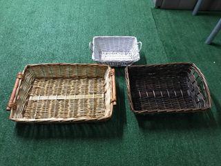 Lote cestas de Mimbre