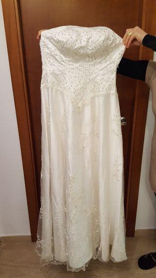vestido de novia talla 36 de segunda mano en valencia en wallapop