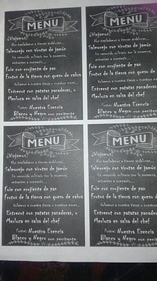 cartas o menus para restaurantes