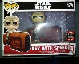 star wars pop 174 funko rey with speeder