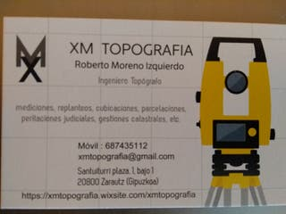 Topógrafo. Servicio de topografía