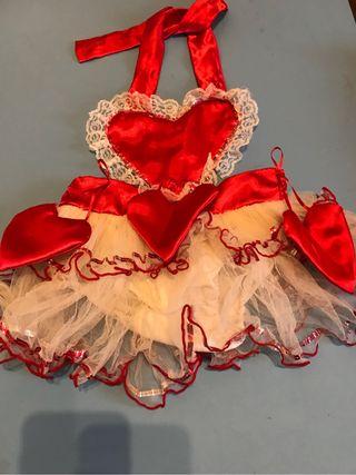Disfraz de corazon para niña