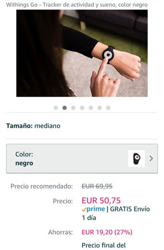 Pulsera deportiva Withings go Nokia health