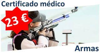 Certificado Médico Armas AREETA