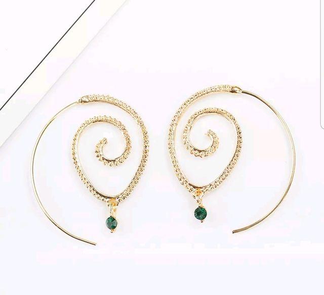 Vintage style gold ear hoops