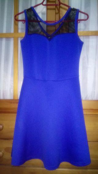Vestido azul electrico de encaje