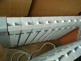 Radiador electrico calefacción calor azul