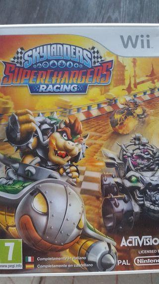 Skylander Racing superchargers Wii. En su caja.