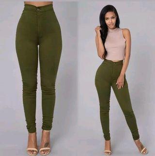 pantalón skinny cintura alta