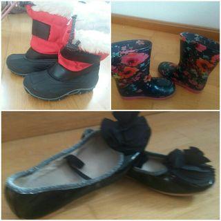 botas agua,botas nieve y manoletinas 28