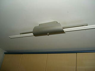 lámpara techo cocina fluorescente acero